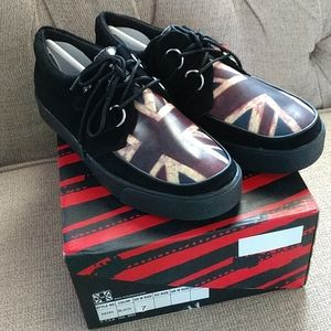 T.U.K. Union Jack 2 Ring Creepers size 7 mens